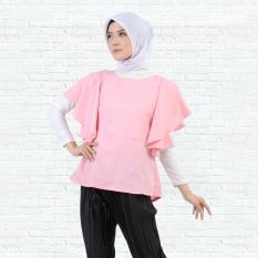 Toko Ayako Fashion Blouse Blus Wanita Lengan Pendek Alisyah 4315 Pink Online Terpercaya