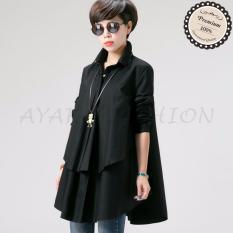 Jual Ayako Fashion Blouse Hiraku Ho Black Lengkap