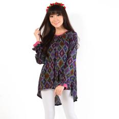 Spesifikasi Ayako Fashion Blouse Lydia Batik Grafis 279 Hitam Ayako Fashion Terbaru
