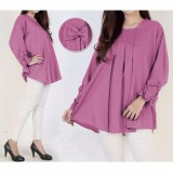 Spesifikasi Ayako Fashion Dress Long Sleeve 8123 Lavender Bagus