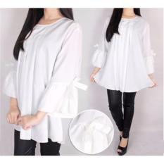 Jual Ayako Fashion Dress Long Sleeve 9123 White Ayako Fashion Grosir