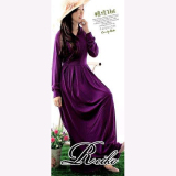 Review Pada Ayako Fashion Dress Maxi Anastasia Rei Ungu