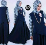Jual Ayako Fashion Dress Maxi Yumma Navy Indonesia
