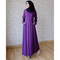 Toko Jual Ayako Fashion Long Sleeve Maxi Hilda Ungu
