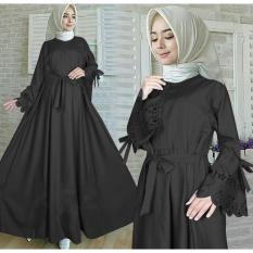 Ayako Fashion Long Sleeve Maxi Kamilla / Lengan Serut / Dress Muslim / Baju Muslim Kamilla / Baju Gamis / Baju Syari (5 Warna)
