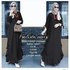 Ayako Fashion Long Sleeve Maxi Lissandra / Lengan Serut / Dress Muslim / Baju Muslim (5 Warna)