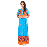 Jual Ayako Fashion Maxi Geisha Blue Indonesia Murah