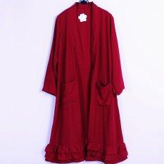 Iklan Ayako Fashion Ruffle Cardigan Red