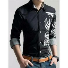 Jual Ayako Fashion Shirt Marcelino Ru Black Grosir