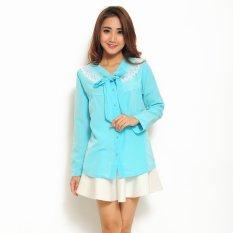 Jual Ayako Fashion Shirt Sandra Blue Grosir