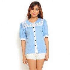 Ayako Fashion Shirt Tashia Biru Asli