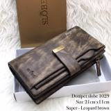 Dimana Beli Ayako Fashion Slobe D1029 Wallet Dark Brown Ayako Fashion
