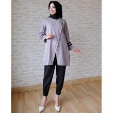 Ayako Fashion Tunik Azzahra - (Grey)