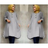 Jual Ayako Fashion Tunik Laila Grey Satu Set