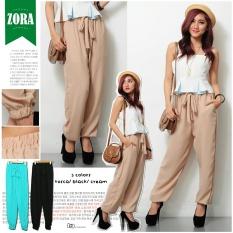 Obral Ayako Fashion Women Pants Zora Ay Brown Murah