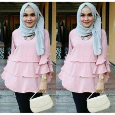 Beli Ayu Fashion Blouse Marimar Dustypink Best Seller Murah Indonesia