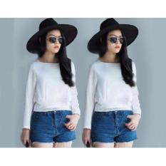 Ayu  Fashion Blouse Zea - White - Best Seller