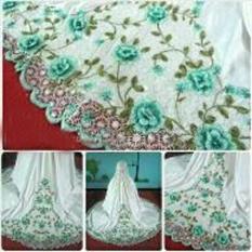 Ayu Fashion Setelan Mukena Azizah Dewasa Bordir - 2 Hijau - Best Seller