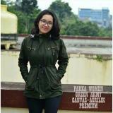 Beli Az Jaket Parka Wanita Premium Green Army Cicil