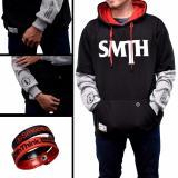 Model Sweater Pria Smth Kombi Hitam Abu Terbaru