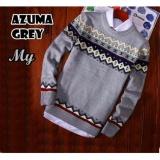 Beli Azam Clobber Sweater Pria Rajut Azuma Grey Sweater Rajut Tribal Dengan Kartu Kredit