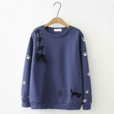 Toko Azam Clobber Sweater Wanita Mega Cat Sweater Fleece By Azam Online