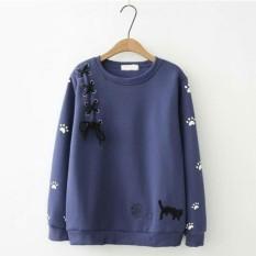 Harga Azam Clobber Sweater Wanita Mega Cat Sweater Fleece By Azam Ori
