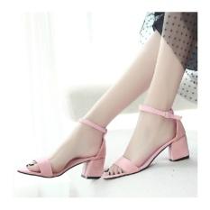 Harga Azkashoes Heels Wanita Hak Tahu Pink Termurah