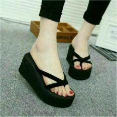 azkashoes Sandal Wedges Jepit Spon Wanita