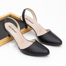 azkashoes Sepatu Cewek Heels Tali Hitam