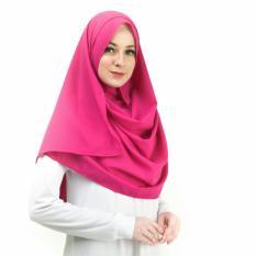 Jual Azkava Hijab Iklima Pashmina Instan Warna Magenta Original