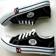 Azljaya-Sepatu Sneakers Kanvas Seragam Sekolah ( Junior OX )  - Hitam 36 - 40