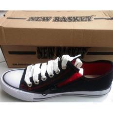 Azljaya-Sepatu Sneakers Kanvas Seragam Sekolah New Basket Hitam Pria-Wanita 37-42