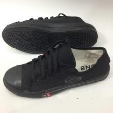 Azljaya - Sepatu Sneakers Sekolah Hitam Junior Full Black (Hitan Polos) 36-40