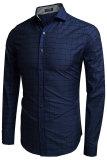 Spek Azone Coofandy Men Matikan Collar Plaid Cotton Button Down Fesyen Pria Biru Coofandy