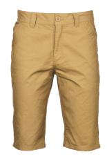 Azone Fashion Pria Kasual Half Pants Medium Pinggang Longgar Warna Murni Celana Pendek Khaki