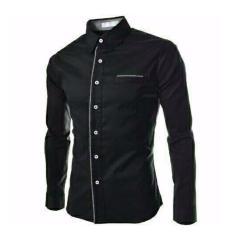 Azure Fashion FAREL Black  KEMEJA PRIA  KEMEJA CASUAL  KEMEJA LENGAN PANJANG