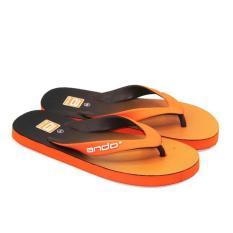 Azzalea jaya-Ando Sandal Jepit Pria Dan Wanita New Hawaii Spectrum - Orange/Coklat Size 38-42