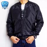 Review Azzalea Jaya Shop Jaket Bomber Pria All Size Jaket Parasut 2In1 Bolak Balik Hitam Indonesia