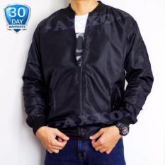 Beli Azzalea Jaya Shop Jaket Bomber Pria All Size Jaket Parasut 2In1 Bolak Balik Hitam Murah
