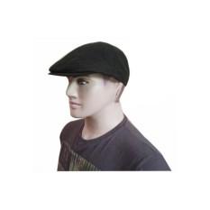 Azzalea Jaya Shop-Topi Flat Cap /Pria Dan Wanita Topi beret Hitam