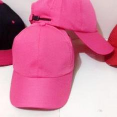 Azzalea jaya shop-topi polos pink wanita bahan japan drill murah
