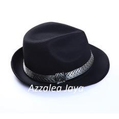 Azzalea Jaya- Topi-Hat Koboy-Fedora /Tompi-Traveling Pesta-Hitam Polos