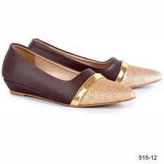 Azzr Sepatu Flat Wanita Coklat Komb 515-12