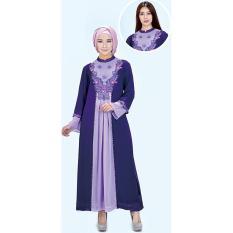 azzura 340-24 pakaian gamis wanita - hicone - cantik dan elegan (purple)