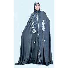 azzura 342-30 mukena wanita - spandek - bagus dan elegan (Abu-abu)