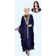 azzura 505-25 pakaian gamis wanita - hicone - cantik dan elegan (purple)
