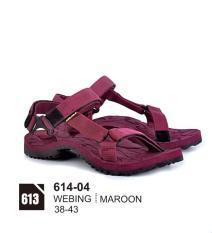 azzura 614-04 sandal gunung pria - webing - gagah dan keren (marun)
