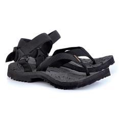 azzura 614-06 sandal gunung pria - webing - gagah dan keren (black)