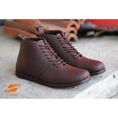 Jual Sepatu Brodo Boots Bikers D Island 01 Coklat Grosir